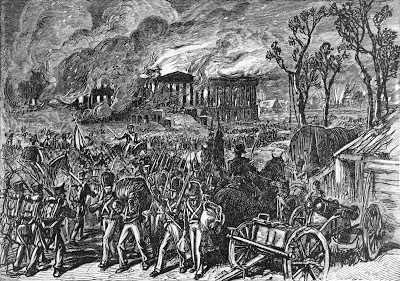 The British burn the President's Mansion 1814