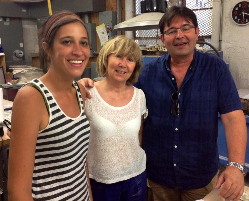 Audrey Wilson with Mimi and Janko Gogusevski.