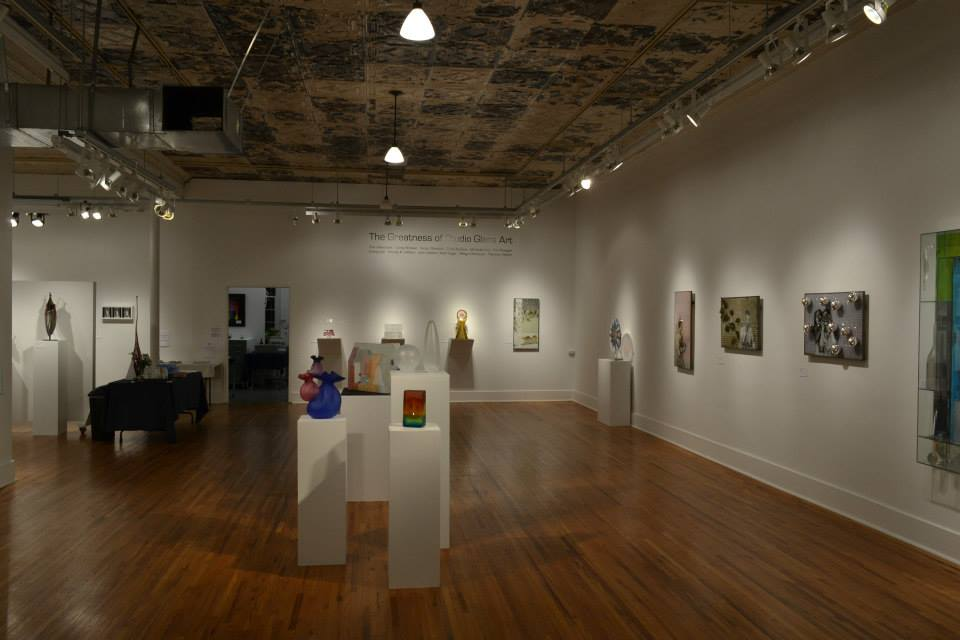 Gallery 72's exhibit of studio glass in Omaha, Nebraska.