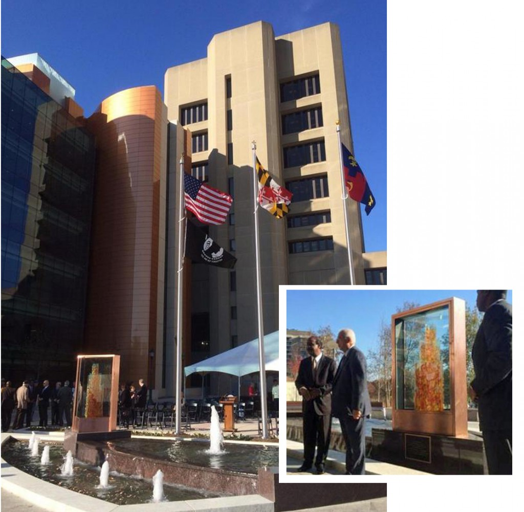 Fallen Heroes Memorial at Montgomery County's new Judical Annex and plaza.