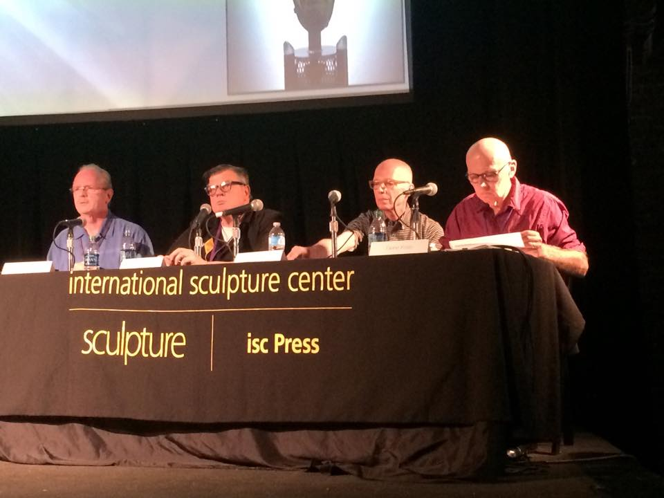 ISC Panel discussion. L-R Patrick Blythe, Tim Tate, William Warmus, Gene Koss.
