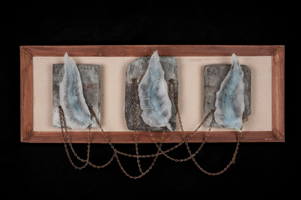 "Audrey Wilson, ""Jacob's Ladder"", Pâte de verre, kiln formed tempered glass, refractory glass, found objects"