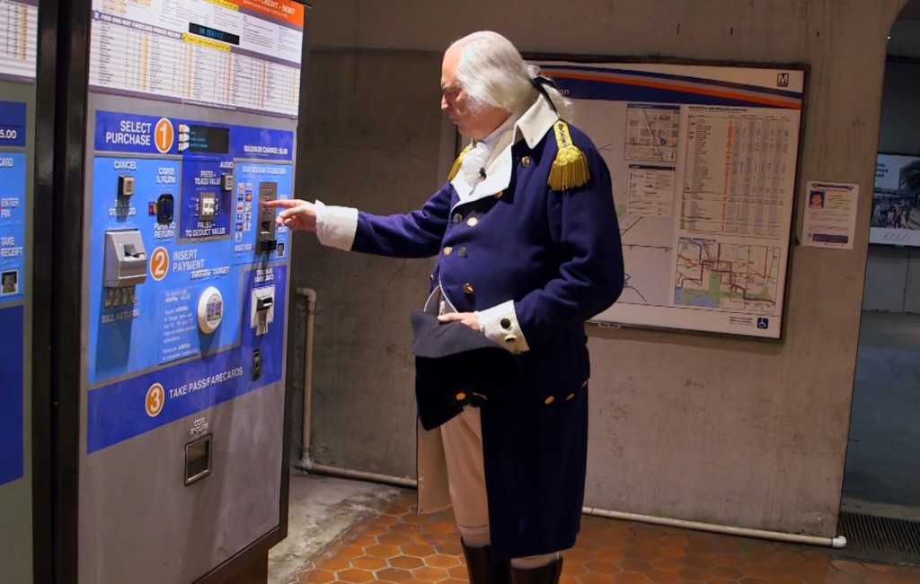President George Washington tries to make sense of the Metro.
