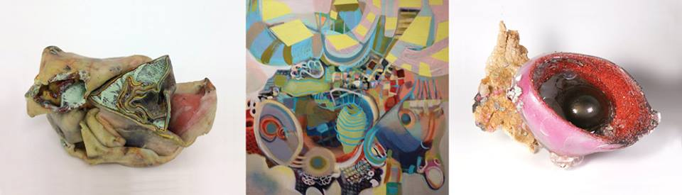 """Unmapped"" exhibit at Brentwood Arts Exchange features work by Ellyn Weiss, Pat Goslee and Sally Resnik Rockriver. January 12 - February 28, 2015"