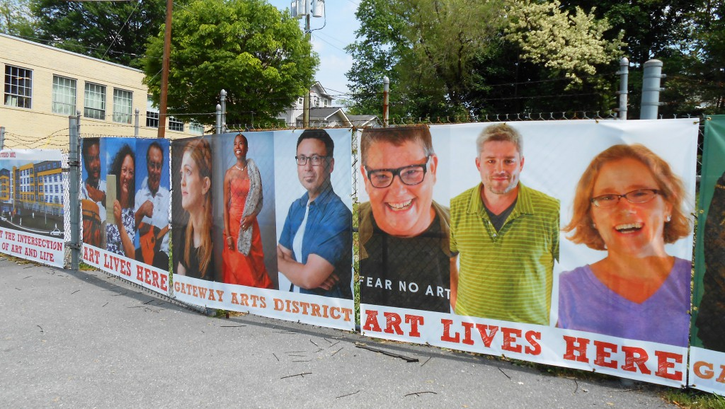 Artists of Gateway Arts District are featured and celebrated along Route 1 near Washington, DC.