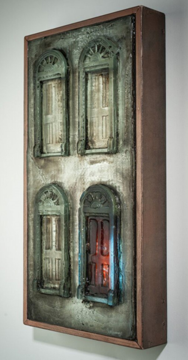 "Sean Hennessey, ""What About The Doors""; Glass and mixed Media"