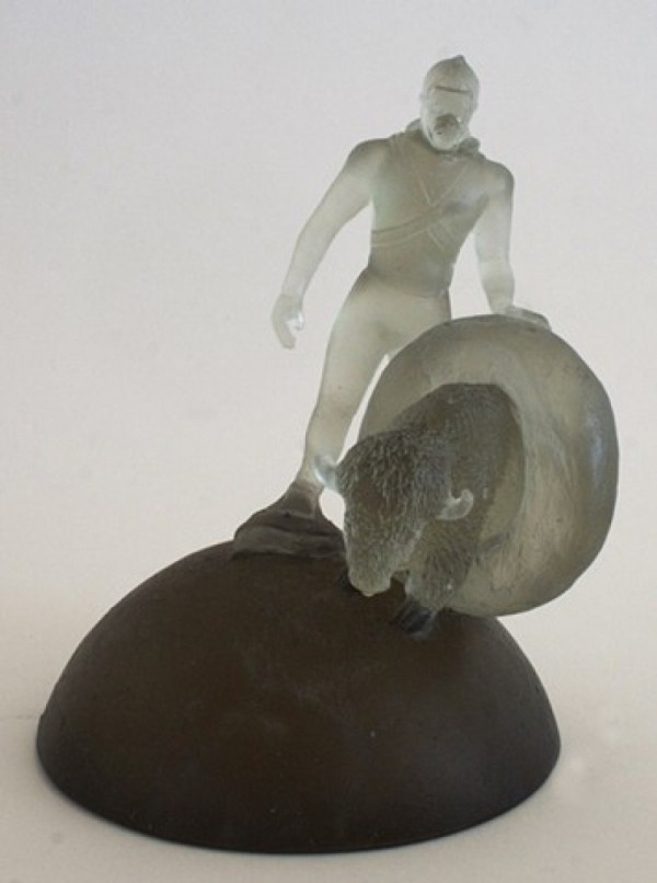 "Jason Chakravarty, ""Spherically Exerting Influence on Humankind and Events""; cast glass"