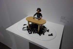 """Carmen Lozar's """"The Gun Eater"""" at Bender Gallery."""