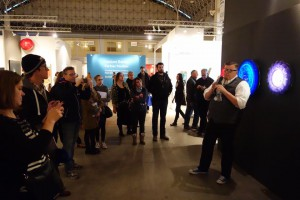 Tim Tate talks about his work at Habatat Galleries space.