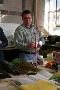 Chuck Ireton at WGS plate glass class.
