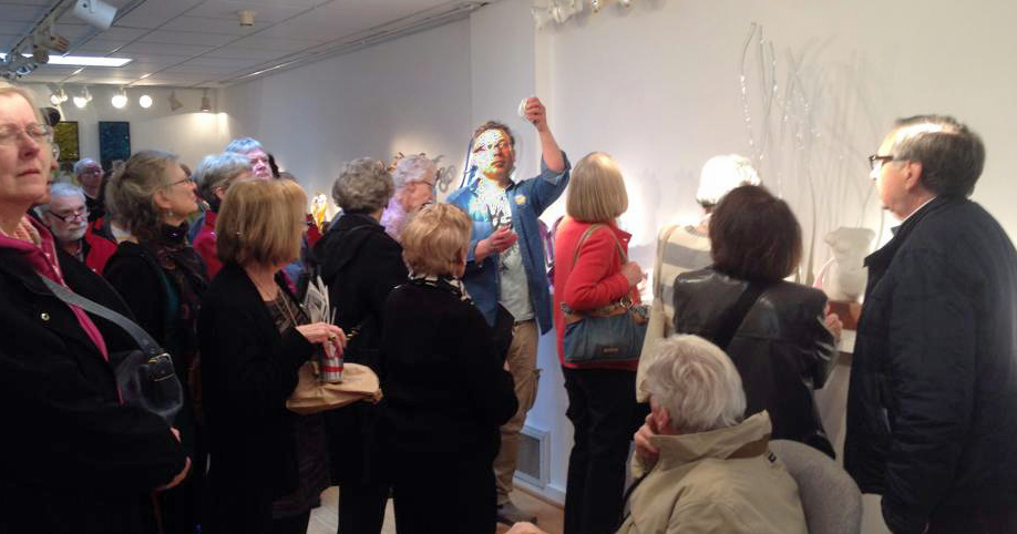 Towson University visited Maurine Littleton Gallery in Georgetown to be enlightened about the history of glass art.
