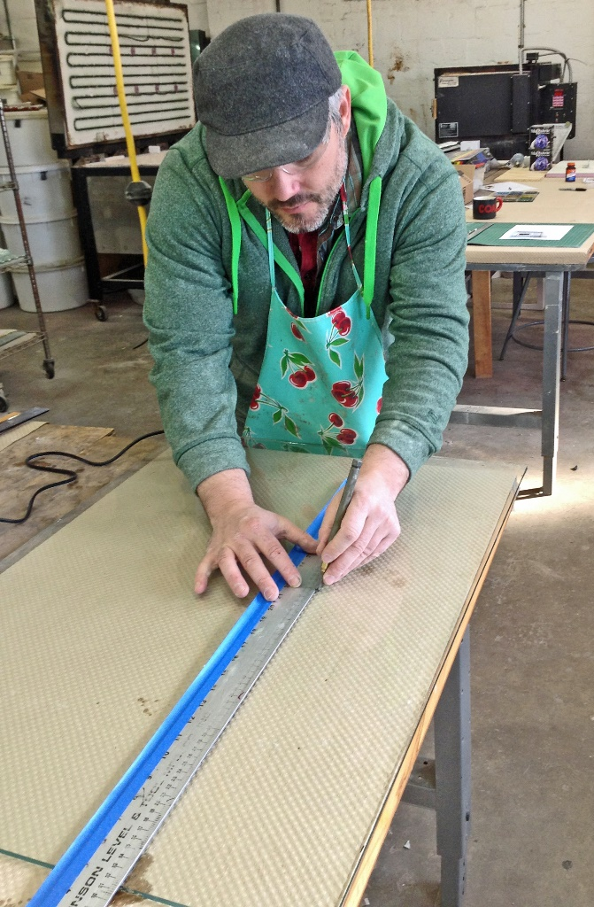 Sean Hennessey gets back to work. Look for Sean's work in NYC at upcoming art fairs!