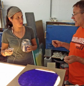 Artists Audrey Wilson and Erwin Timmers discuss the fabrication of the glass panels.