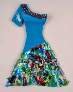 Trish Kent, Dress Series, kilnformed glass