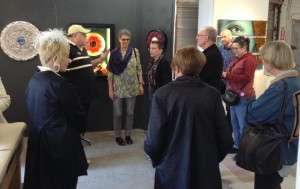 Jean McLaughlin (center) Exec Director of Penland School of Craft visits Washington Glass School