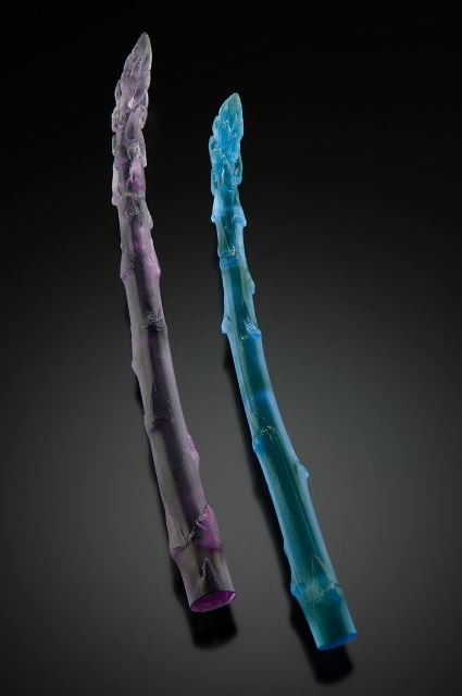 "Don Friedlich, ""Asparagus Brooches"" cast glass"