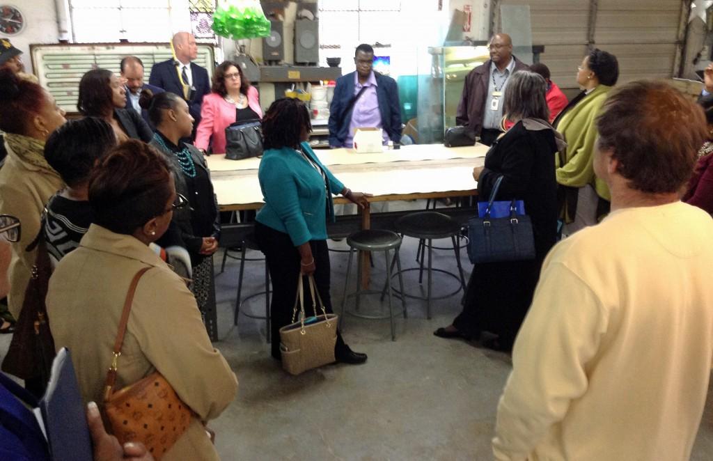 Prince George's County Leadership Council discuss public art process.