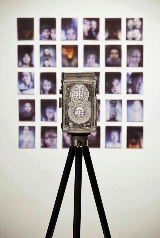 JOSH HERSHMAN; Glass, alternative photo process, ceramic decals, size 32″ x 32″
