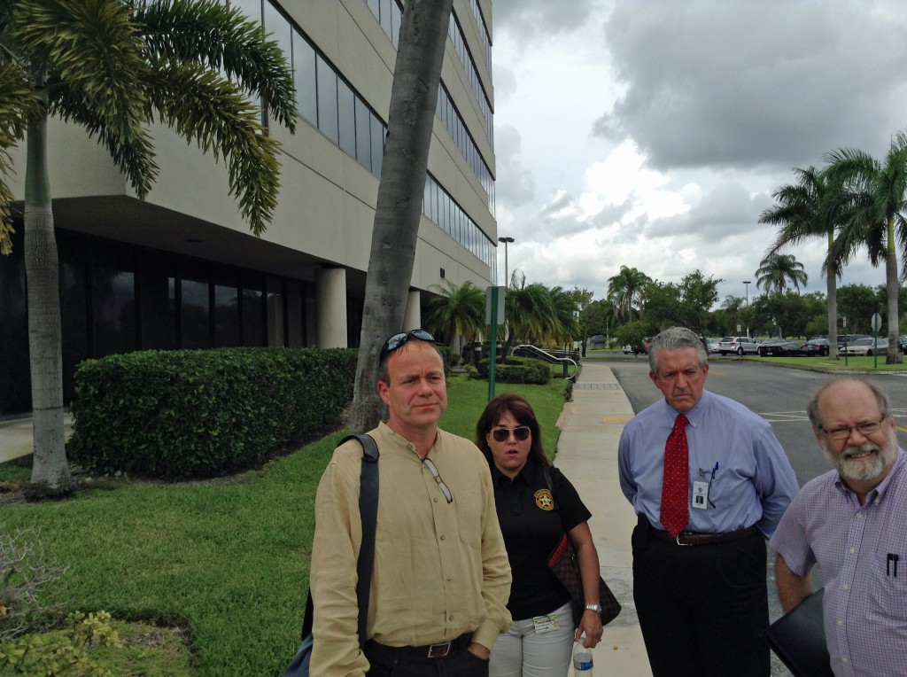WGS Director Erwin Timmers reviews the sites with representatives from PBSO and TDC in October 2014.