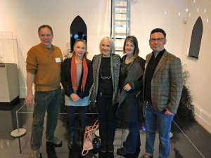L-R Erwin Timmers (Washington Glass School)  Sheila Giolitti (Mayer Fine Art Gallery), Gayle Paul (Portsmouth Art & Cultural Center), Diane Wright (Chrysler Museum), Michael Janis (Washington Glass School).