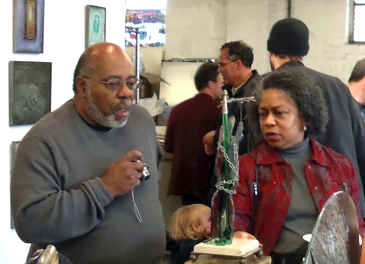 Dave Cook and Toloria Braswell at exhibit of Dave's art.