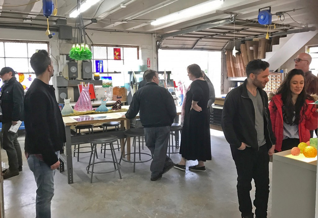 Open Studios is when art lovers can visit artists in the Washington Glass Studios, see their work, and get a behind-the-scenes glimpse into their working processes.