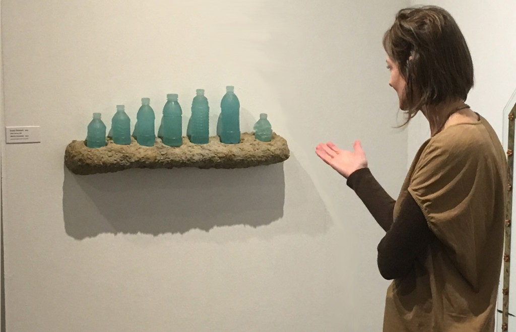 """Curator Diane Wright talks about Erwin Timmers sculpture featured at """"Embracing Narrative"""" exhibit."""
