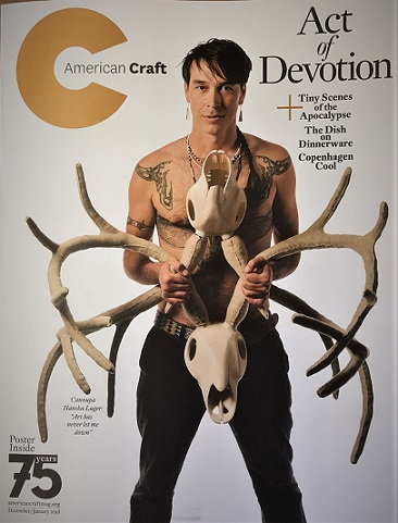 Dec/Jan 2018 American Craft magazine cover (the real one).