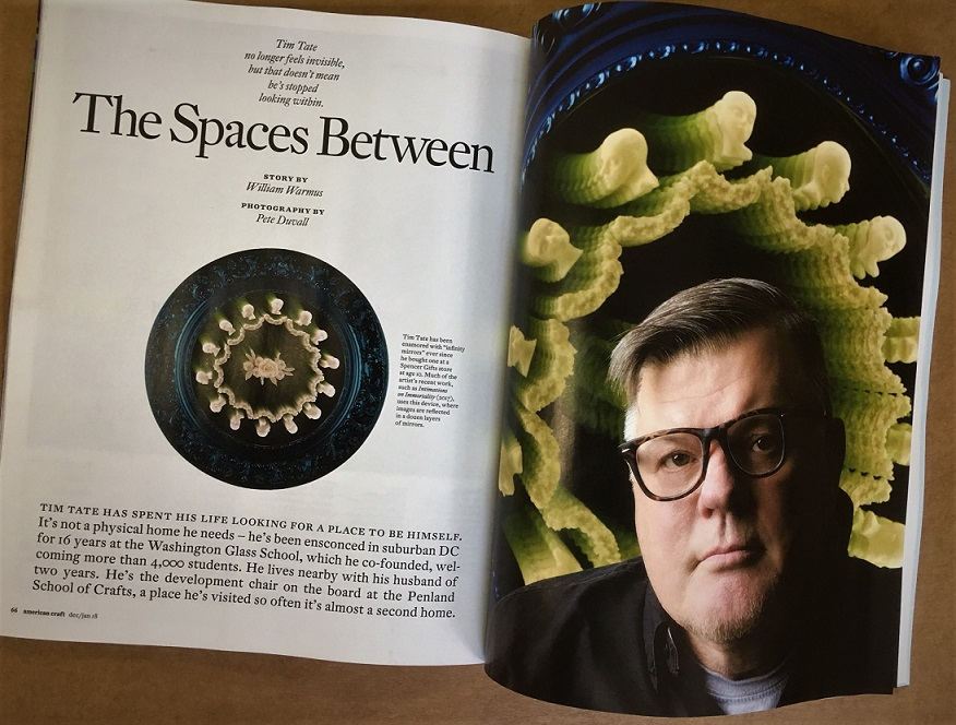 WGS Co-Director Tim Tate is featured in the American Craft Dec/Jan 2018 magazine with an article by William Warmus.