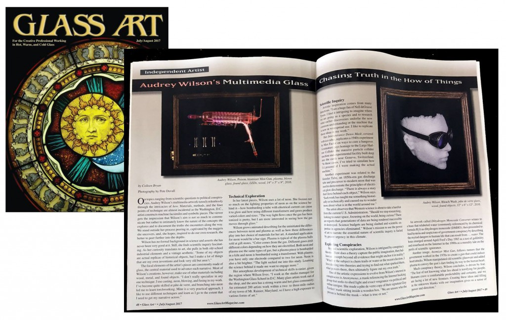Glass Art Magazine featured Audrey Wilson in their July/August issue.