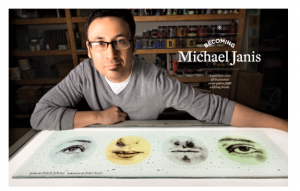 "WGS artist Michael Janis was covered as a result of his ""subtle and compelling"" glass artwork."