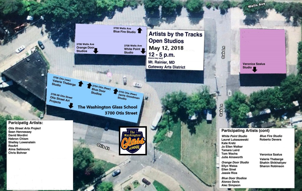 Artists By The Tracks Open Studios May 12th.