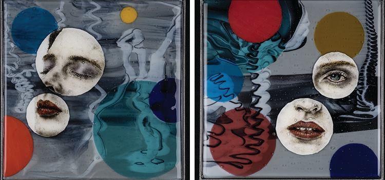 """""""Luminescence"""" and """"Stillness"""" by Michael Janis on exhibit at Morgan Contemporary Glass Gallery"""