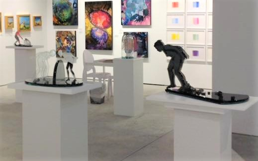 Laura Beth Konopinski's sculptures were at the center of the CONTEXT Miami fair.