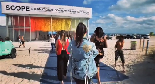 The Art Basel/Miami Art Fairs presents artworks from across the globe.