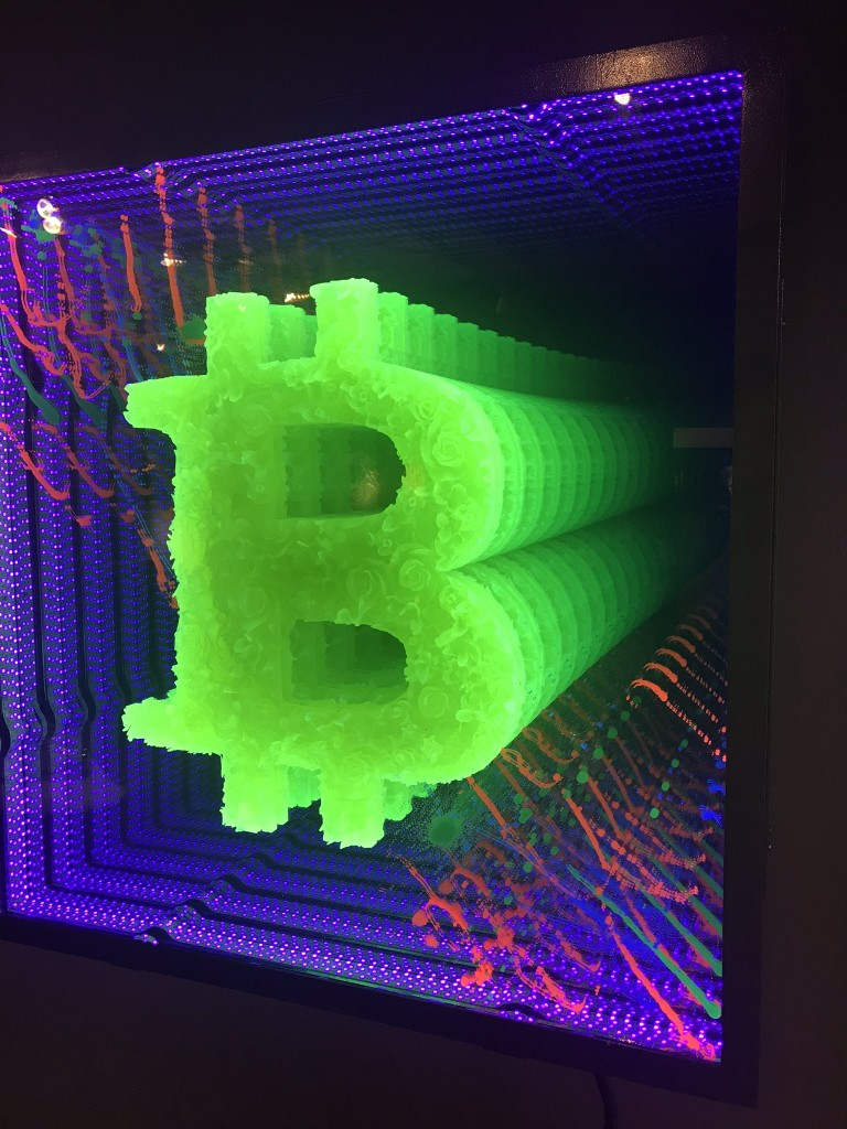 "Tim Tate; detail of ""Bitcoin"""