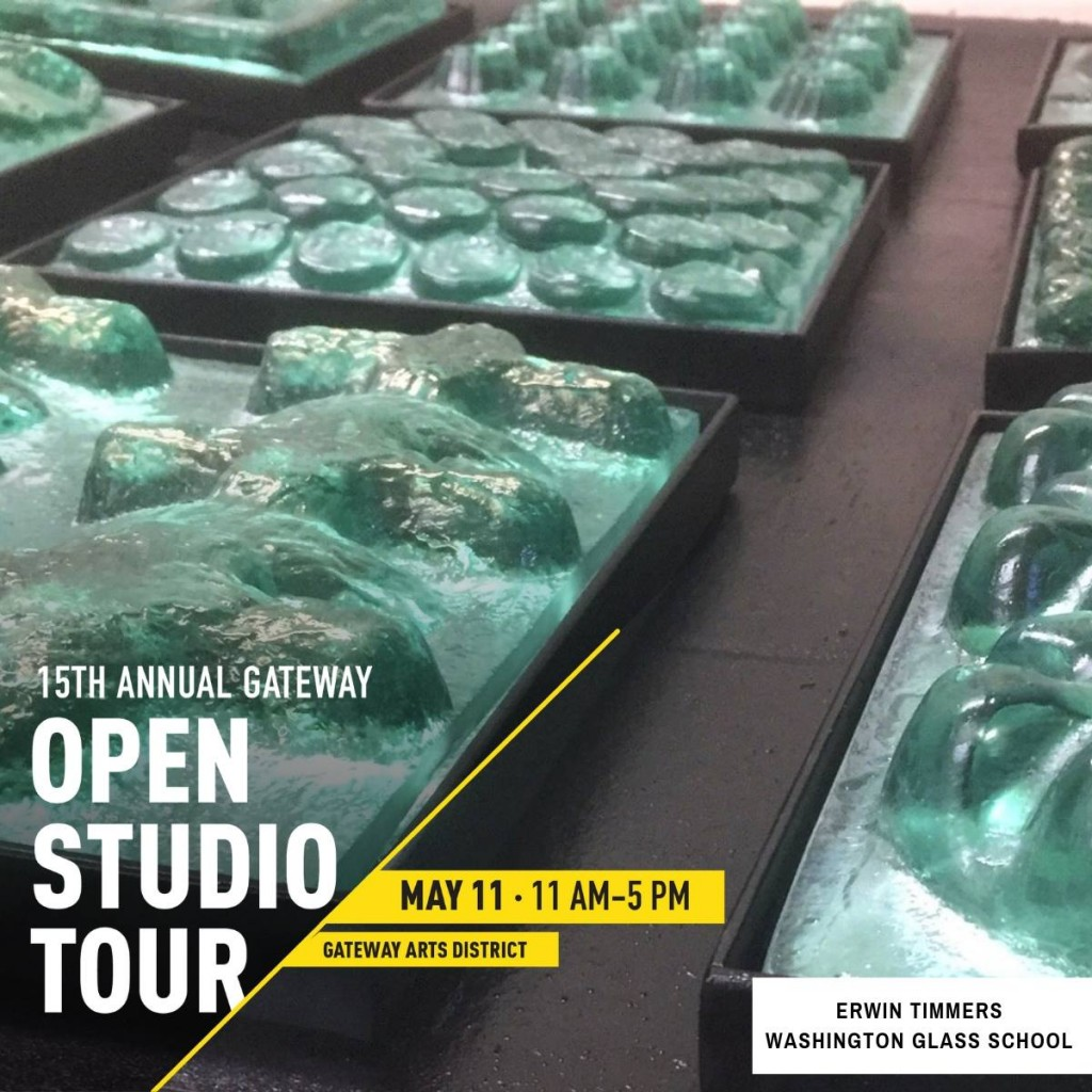 2019 Spring Open Studios is May 11 from 11-5pm. Come visit the Washington Glass School & the surrounding studios that are open in the arts district that day. https://www.gatewayopenstudios.org