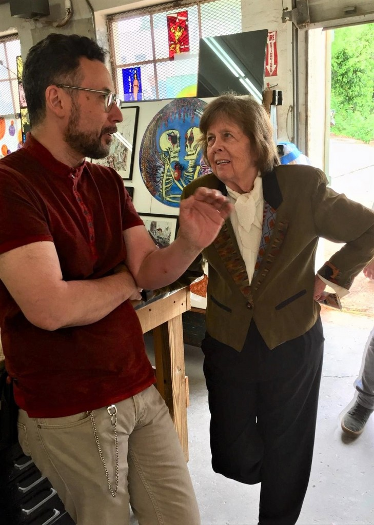DC contemporary arts maven Molly Ruppert chats with WGS Co-Director Michael Janis during OST 2019.