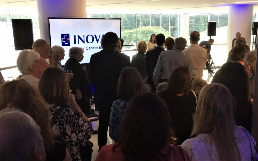 Opening dedication ceremony of the Arts & Healing program at the Inova Schar Cancer Institute.