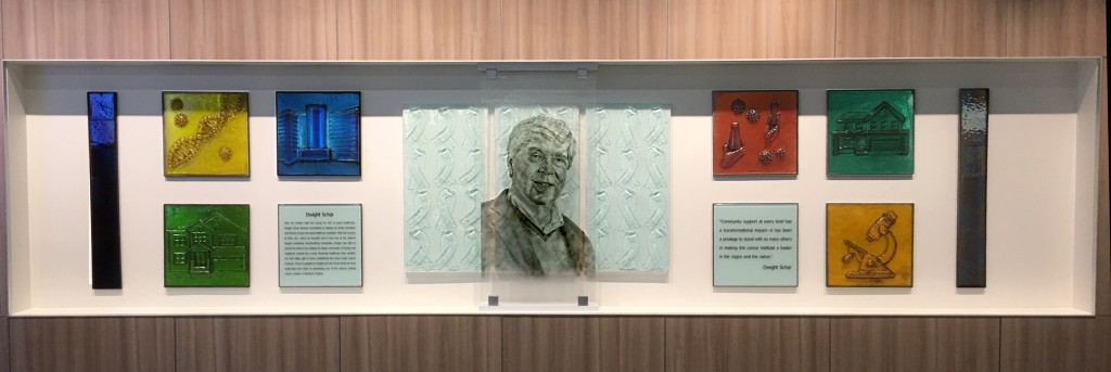 Dwight Schar Recognition Wall at Inova Schar Cancer Institute