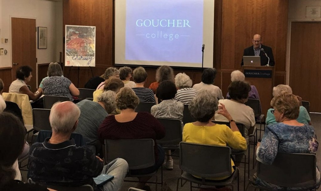 Howard Cohen presents the history and works of artist Dale Chihuly at Goucher College.