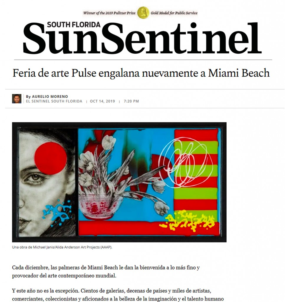 El Sentinel / the Sun-Sentinel have already been posting about the upcoming arrival of our glass artist's works!