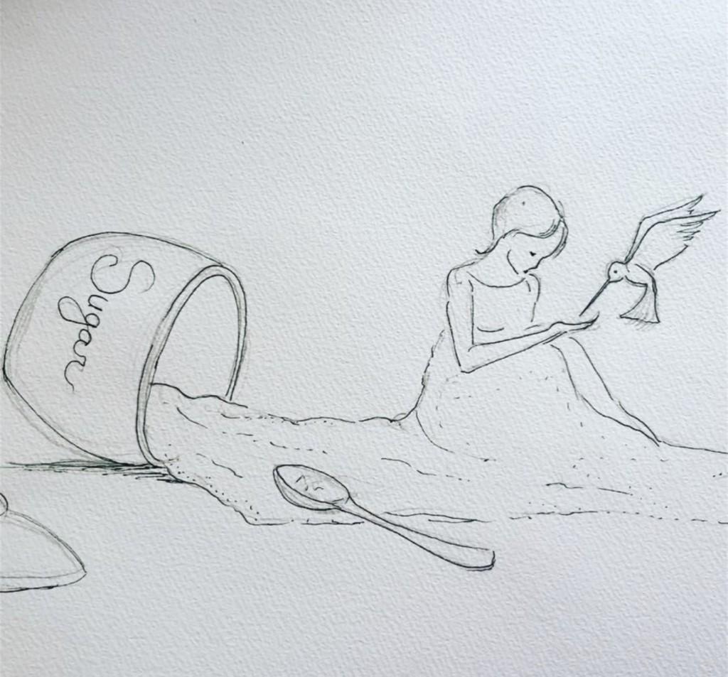 Image from Carmen Lozar's sketchbook.