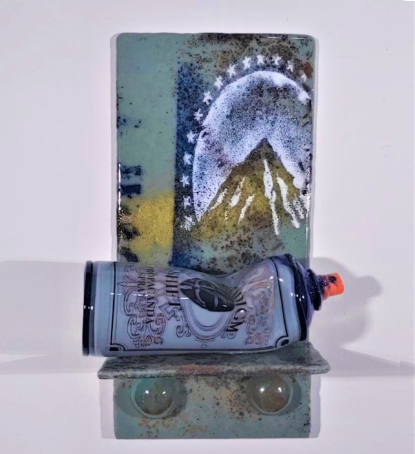 "Joseph Ivacic, ""Summit""; Glass; 12""x6""x4"""