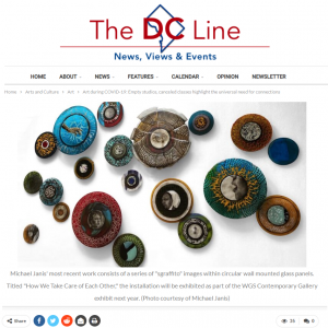 The DC Line features artwork by Michael Janis that addresses the COVID-19 pandemic.