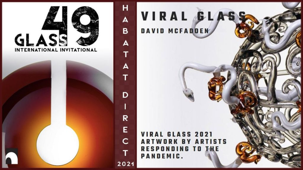viral glass exhibit at Habatat Galleries